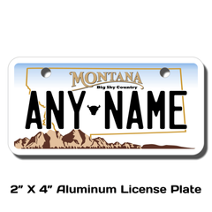 Personalized Montana 2 X 4 License Plate