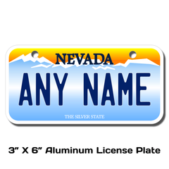 Personalized Nevada 3 X 6 License Plate