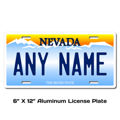 Personalized Nevada 6 X 12 License Plate