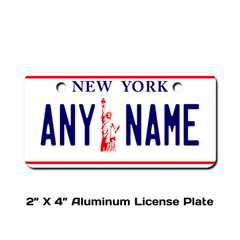 Personalized New York 2 X 4 License Plate
