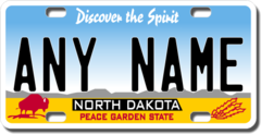 Personalized North Dakota License Plate for Bicycles, Kid's Bikes, Carts, Cars or Trucks