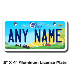 Personalized Ohio 2 X 4 License Plate