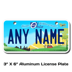 Personalized Ohio 3 X 6 License Plate