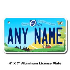 Personalized Ohio 4 X 7 License Plate