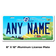 Personalized Ohio 6 X 12 License Plate