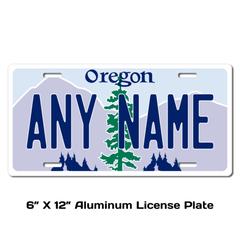 Personalized Oregon 6 X 12 License Plate