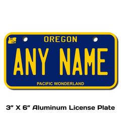 Personalized Oregon 3 X 6 License Plate