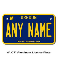 Personalized Oregon 4 X 7 License Plate