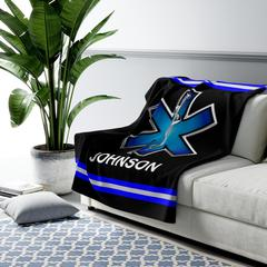 Paramedic EMS EMT Personalized Sherpa Fleece Blanket - Warm Cozy Personalized - Free Shipping