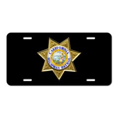 Custom 7 Point Law Enforcement License Plate