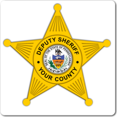 Custom Sheriff Police 5 Point Badge Decal