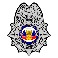 Custom Police Sheild Badge Decal