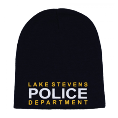 Police Custom Embroidered Cuffless Beanie