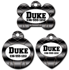 Personalized Black Barbiwire Pet Tag for Dogs and Cats