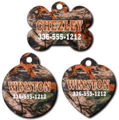 Personalized Leaf Camouflage Pet Tag for Dogs and Cats