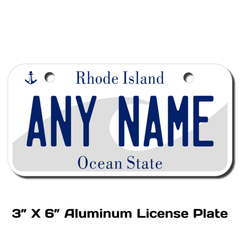 Personalized Rhode Island 3 X 6 License Plate