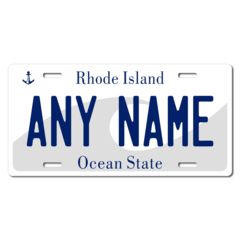 Personalized Rhode Island License Plate for Bicycles, Kid's Bikes, Carts, Cars or Trucks