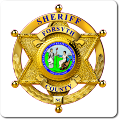 Custom Reflective Sheriff 6 Point Star Badge Decal
