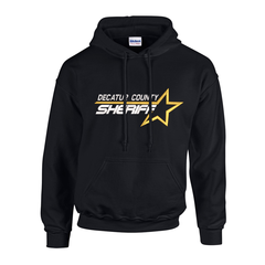 Sheriff Star Custom Embroidered Hooded Sweatshirt FREE SHIPPING