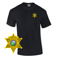 Law Enforcement Badge T-shirt Style Sheriff 1 Custom Imprinted T-shirt