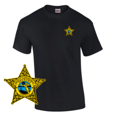 Law Enforcement Badge T-shirt Style Sheriff 2 Custom Imprinted T-shirt