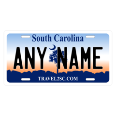 Personalized South Carolina License Plate for Bicycles, Kid's Bikes, Carts, Cars or Trucks
