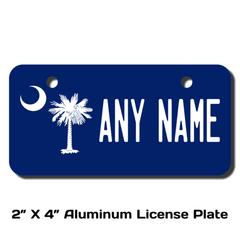 Personalized South Carolina 2 X 4 License Plate e