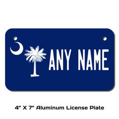 Personalized South Carolina 4 X 7 License Plate