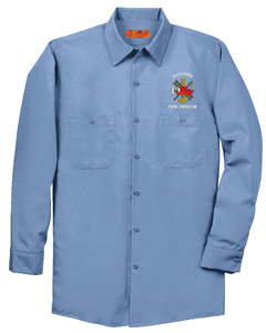 Red Kap - Long Sleeve Industrial Work Shirt Includes Personalized Embroidery