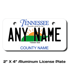 Personalized Tennessee 2 X 4 License Plate