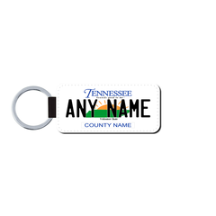 Personalized Tennessee 1.5 X 3 Key Ring License Plate