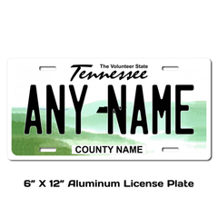 Personalized Tennessee 6 X 12 License Plate