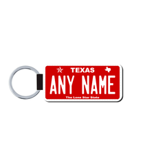 Personalized Texas 1.5 X 3 Key Ring License Plate