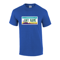 Personalized Arizona License Plate T-shirt Adult and Youth Sizes Version 1