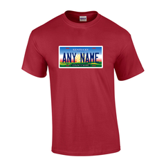 Personalized Kentucky License Plate T-shirt Adult and Youth Sizes Version 1
