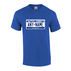 Personalized New York License Plate T-shirt Adult and Youth Sizes Version 1