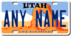 Personalized Utah License Plate for Bicycles, Kid's Bikes, Carts, Cars or Trucks