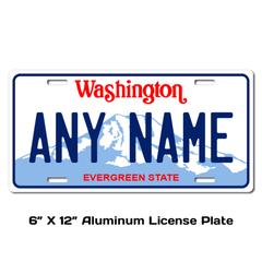 Personalized Washington 6 X 12 License Plate