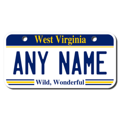 Personalized West Virginia 3 X 6 License Plate