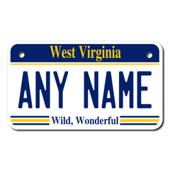 Personalized West Virginia 4 X 7 License Plate