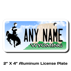 Personalized Wyoming 2 X 4 License Plate