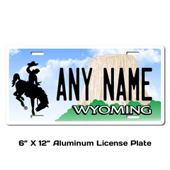 Personalized Wyoming 6 X 12 License Plate