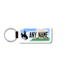 Personalized Wyoming 1.5 X 3 Key Ring License Plate