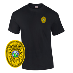 Law Enforcement Badge T-shirt Style 2 Custom Imprinted T-shirt