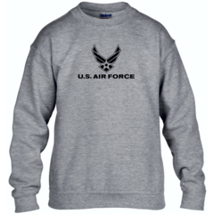 Youth US Air Force Grey Sweatshirt - Free Shipping