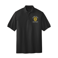 Custom Embroidered Law Enforcement Badge - Port Authority� Silk Touch� Polo