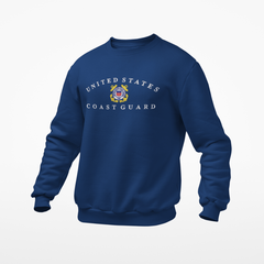 US Coast Guard Embroidered Sweatshirt with Free Shipping