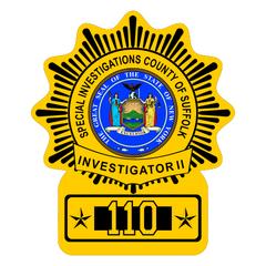 Custom Police Shield Badge Decal - New York Style