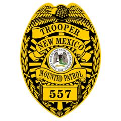 Custom Reflective Police Shield Badge Decal