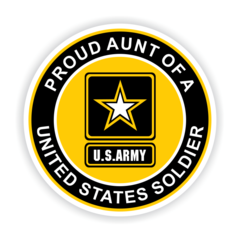 Proud Aunt of a United States Soldier Car Magnet